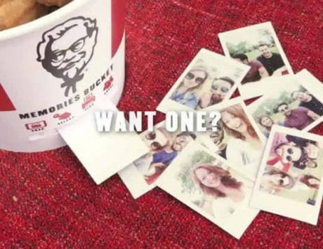 KFC's greasy chicken bucket doubles up into a high-tech Bluetooth photo printer