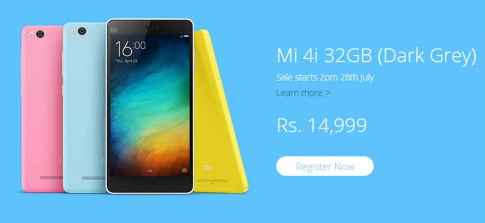 Xiaomi Mi 4i 32GB variant launched in India, priced at Rs 14,999: Specifications and features