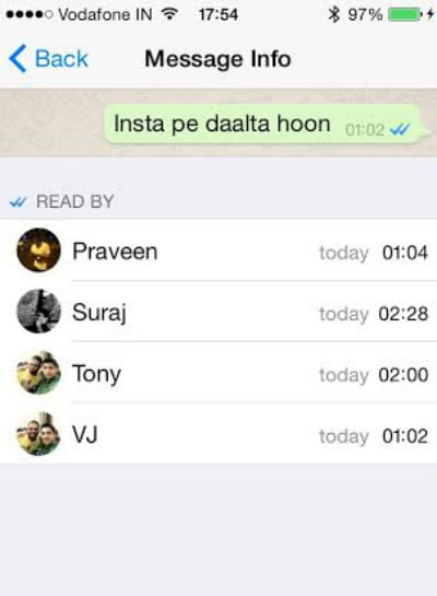 How to find who has read your message in a WhatsApp group