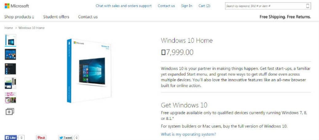 cost to upgrade windows 7 to 10