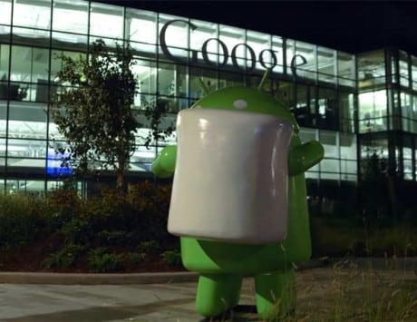 Googlers flood social media with photos of Android Marshmallow statue outside Building 44