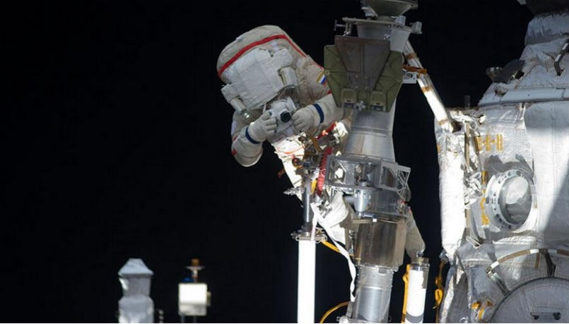 You can watch NASA astronauts venture out for a morning spacewalk