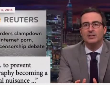 India porn ban: John Oliver says watching porn in India should be made 'mandatory' [video]