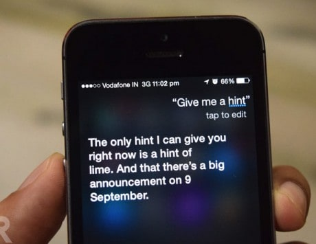 Here's what happens when you ask Siri for a hint on Apple's September 9 event