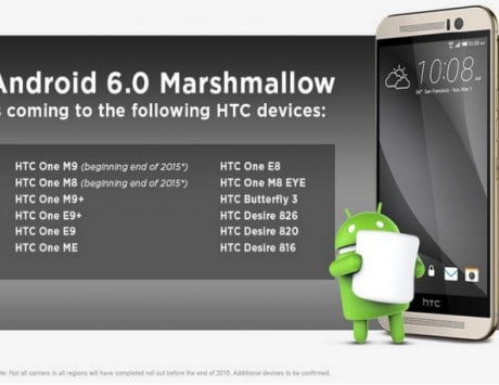 HTC One M9, One M9+ Android Marshmallow 6.0 update timeline revealed