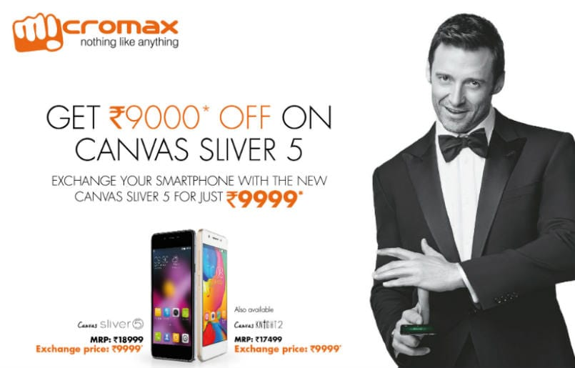 Micromax Canvas Sliver 5 and Canvas Knight 2 available at Rs 9,999 in exchange offer