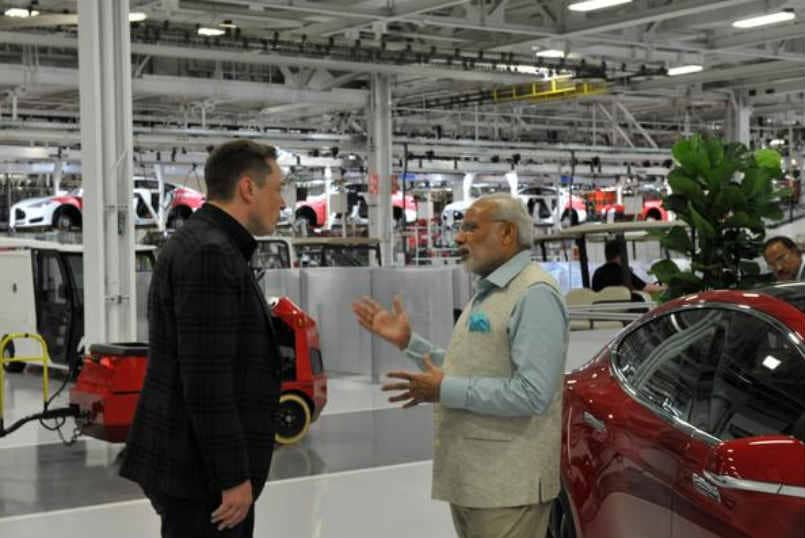 Pm Modi And Tesla Ceo Elon Musk Discuss Battery Technology