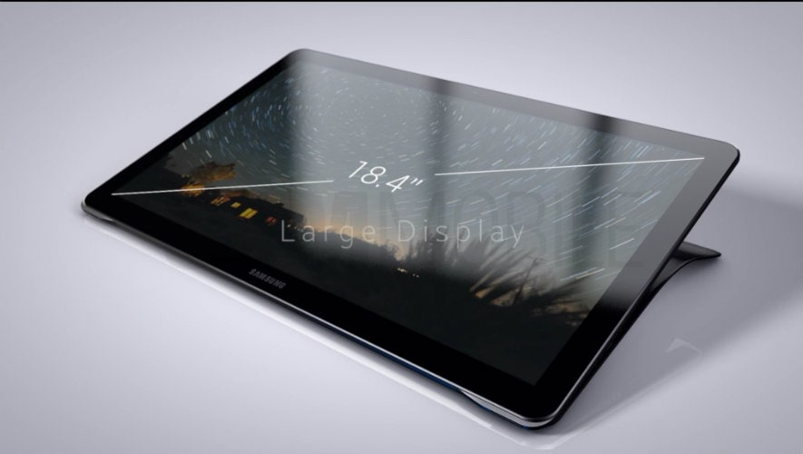 Samsung Galaxy View with 18.4-inch display images leaked, offers a closer look at the tablet