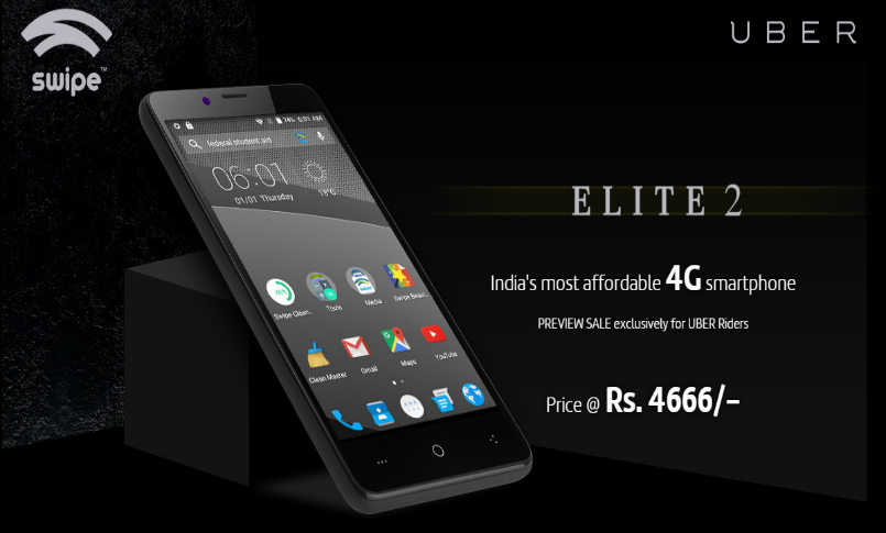 Swipe Elite 2 4G LTE smartphone launched, priced at Rs 4,666: Specifications, features