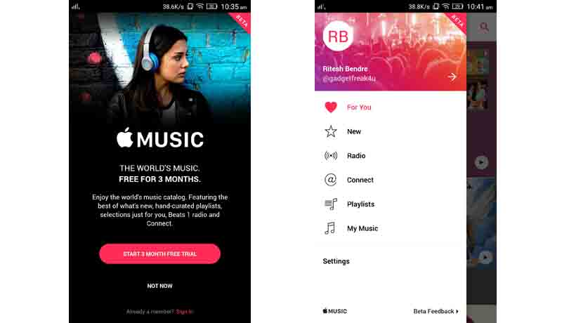 Google play music vs phonograph music player detailed comparison.