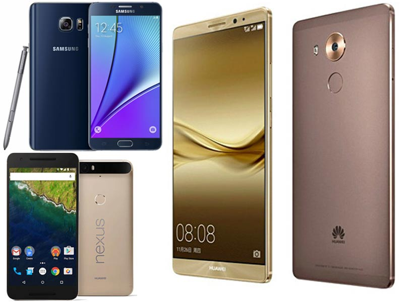 Huawei Mate 8 vs Google Nexus 6P vs Samsung Galaxy Note 5: Specifications and features compared