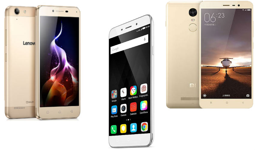 Coolpad Note 3 Plus vs Xiaomi Redmi Note 3 vs Lenovo Vibe K5 Plus: Price, specifications, features compared