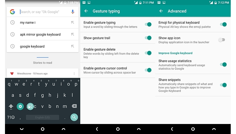 google keyboard app updated with one handed mode improved gesture typing and lots more bgr india. Black Bedroom Furniture Sets. Home Design Ideas