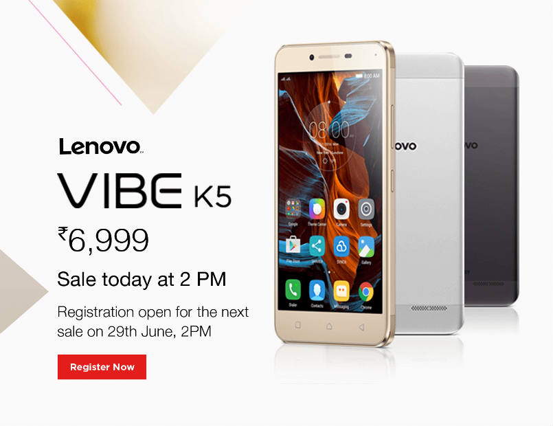 a0d5a1f0925d78 Lenovo Vibe K5 to go on sale for the first time via Amazon India at 2PM:  Price, specifications, features