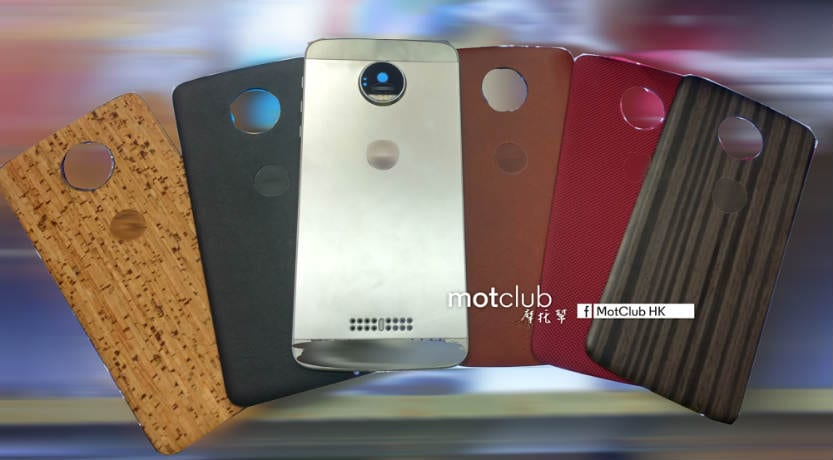 Motorola Moto Z: Replaceable 'Style Mod' covers surface ahead of June 9 launch