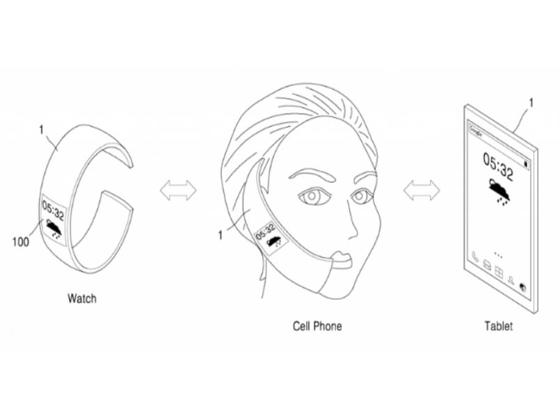 Samsung's patent reveals a foldable display that turns a smartwatch into smartphone and tablet