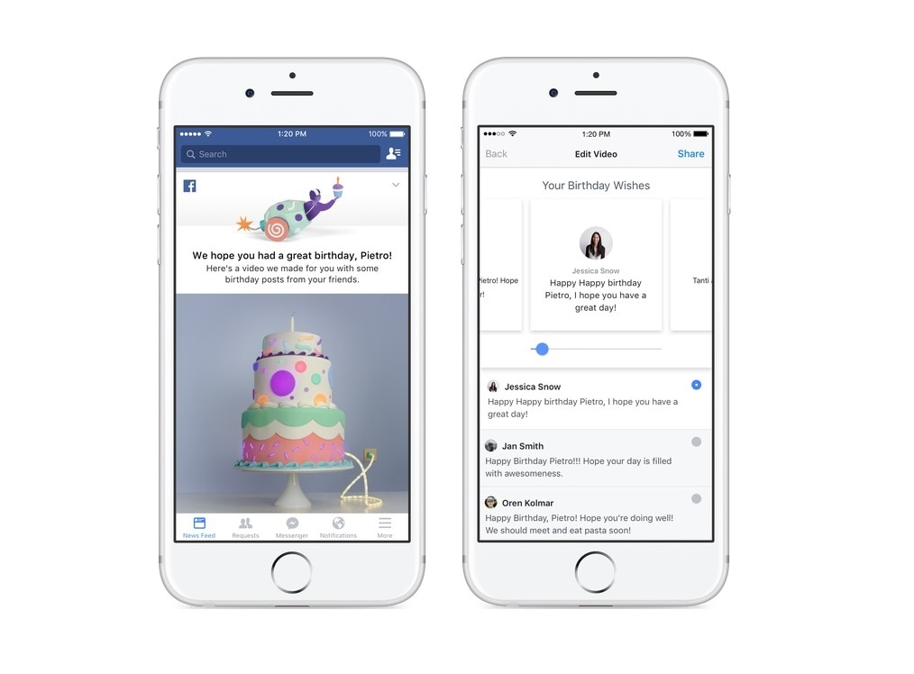 Facebooks New Birthday Recap Feature Collates All Your Wishes Into A Video