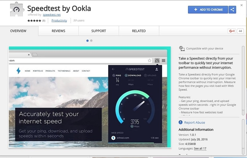 Ookla's new Google Chrome extension is the most convenient, fastest