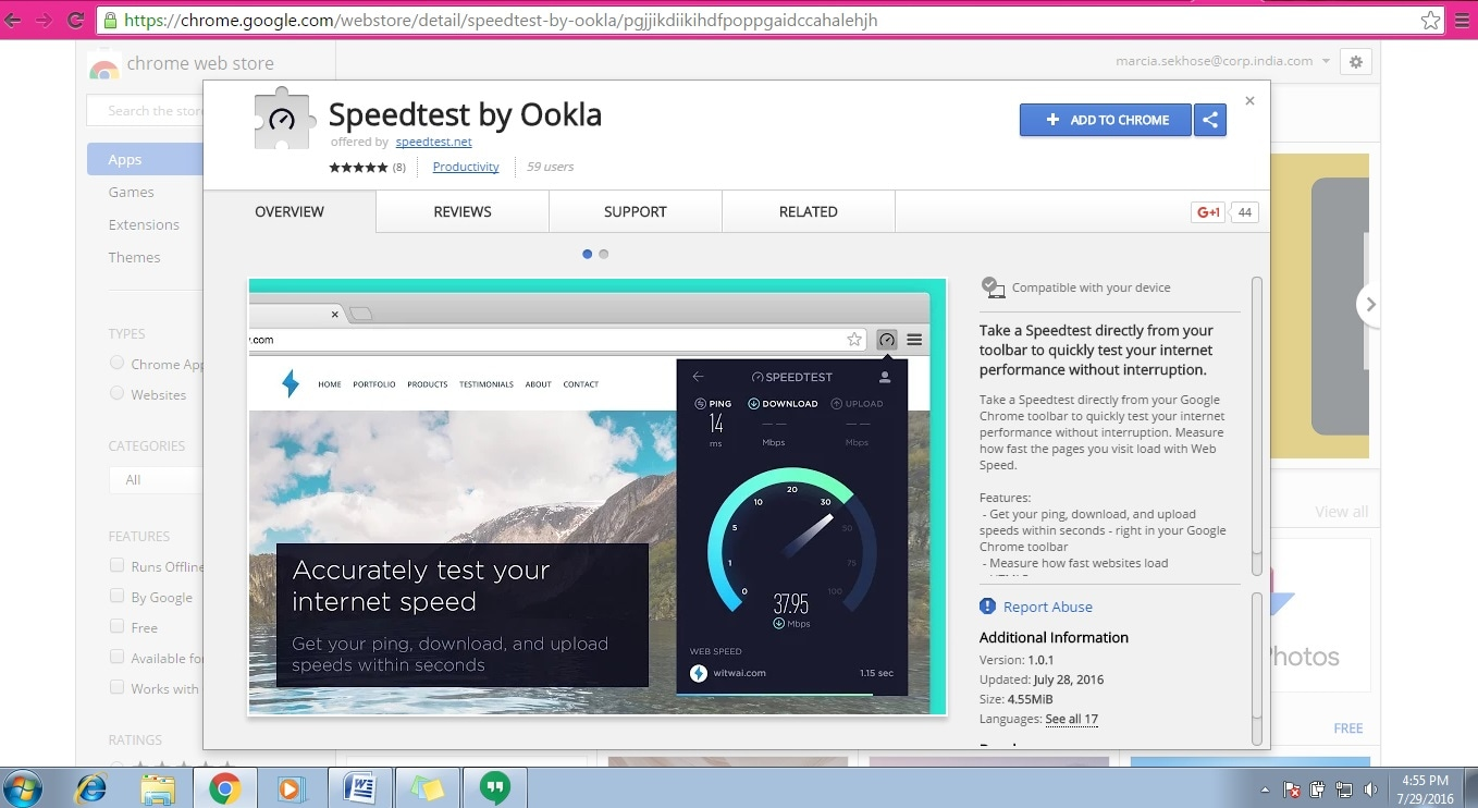Ookla's new Google Chrome extension is the most convenient, fastest way to test your internet speed