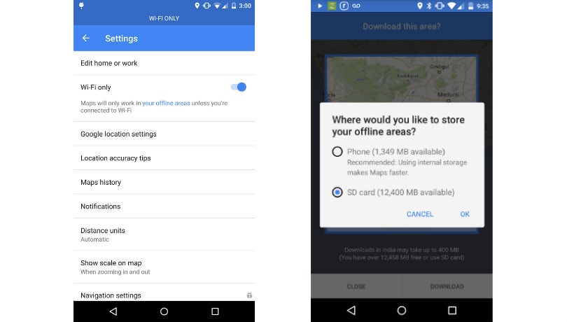 Google Maps for Android gets data saving Wi-Fi only mode ... on google chrome search, google sync android, google maps android icon, city maps 2go android, google docs offline android,