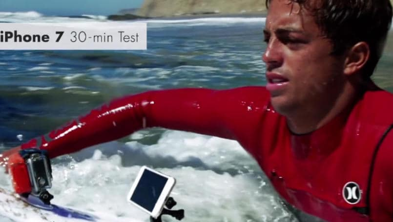 Watch a pro surfer put the Apple iPhone 7, iPhone 7 Plus through the ultimate water test