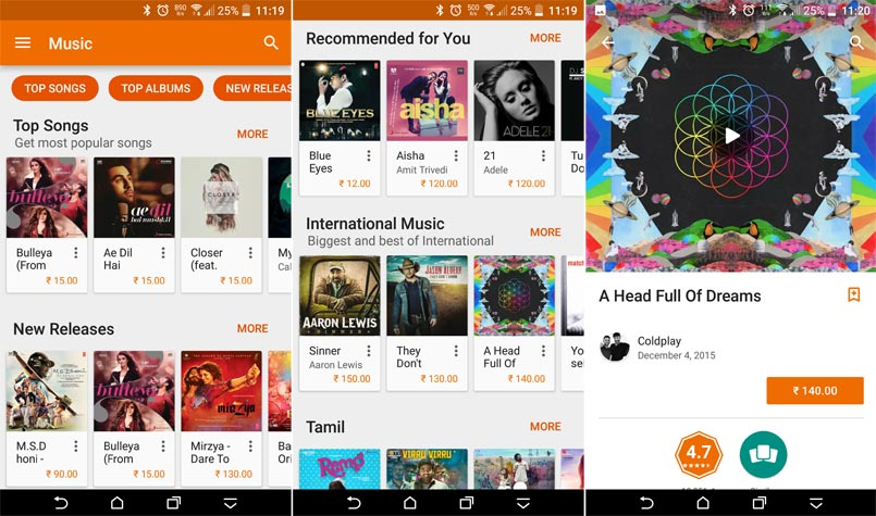 Google Play Music Store finally launched in India