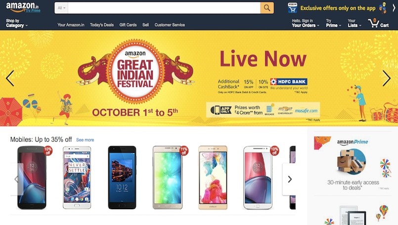 when amazon great indian sale