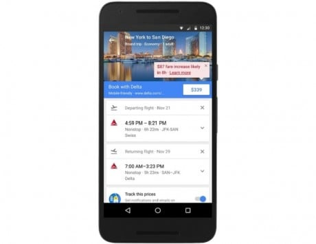 Now book hotels with Google Flights