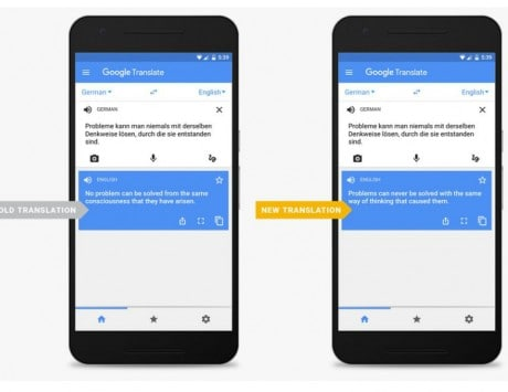 Google Translate now uses Neural Machine Translation system for better translation