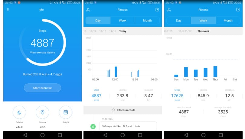 honor 8 steps counter