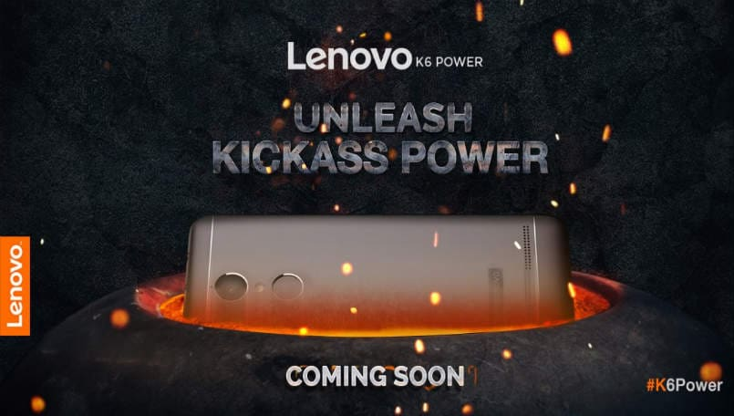 Lenovo K6 Power tipped for November 29 launch in India