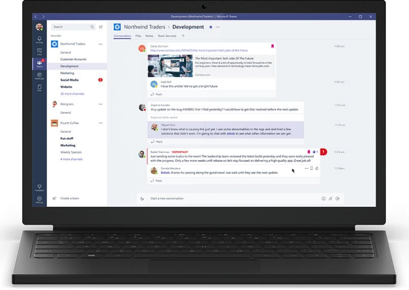 Microsoft-teams-launched