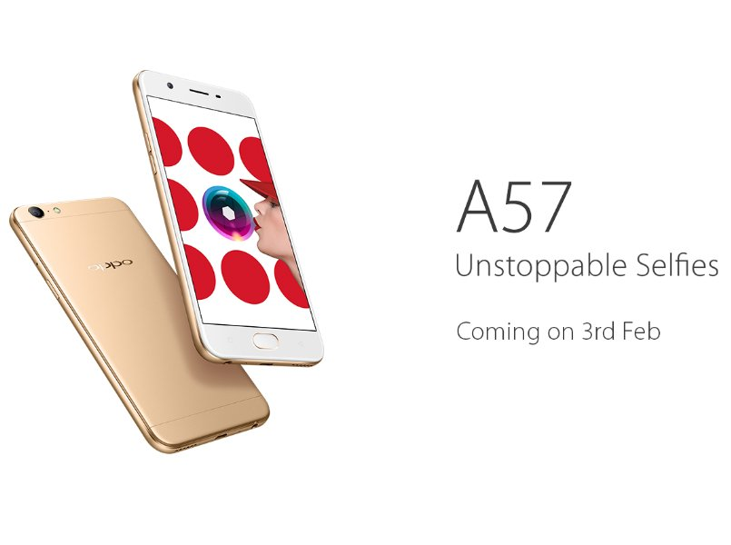Oppo set to launch selfie 4G smartphone, A57, on Feb 3