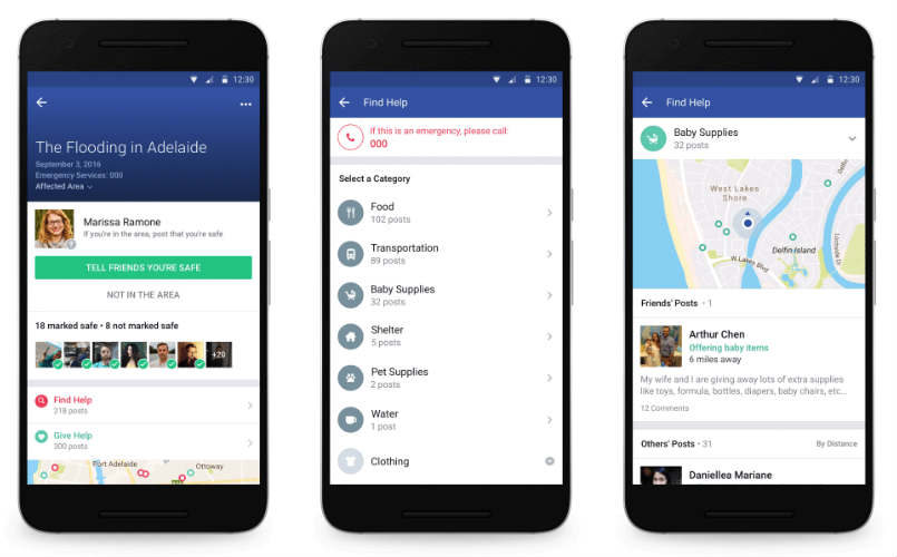 Facebook expands Safety Check to help users help one another
