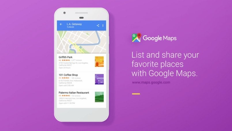 Google Maps now lets you save your favorite places as a list