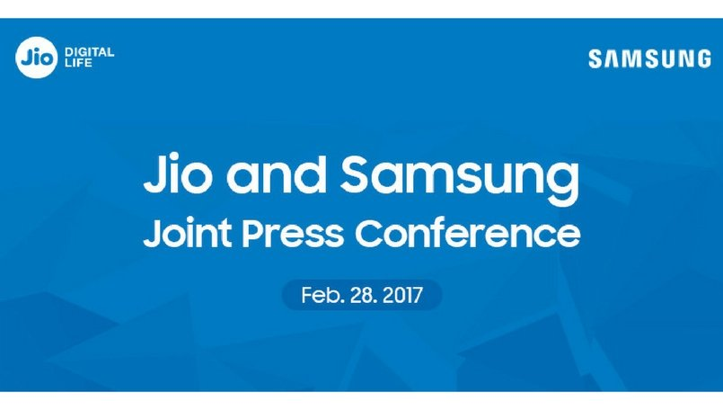 Reliance Jio, Samsung to hold a joint event on February 28 at MWC 2017