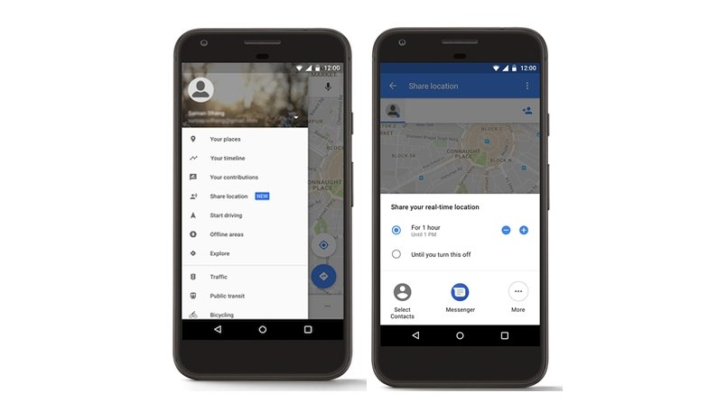 Google Maps now lets you share your trips and real-time location