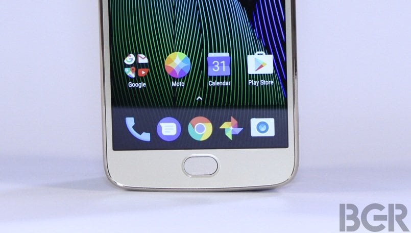 moto g5 plus fingerprint