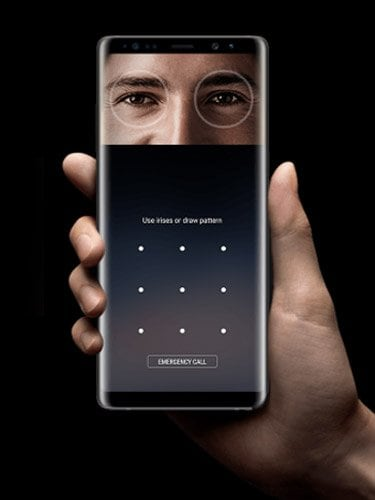 Samsung Galaxy Note 8 Samsung Galaxy Note 8 Iris Scan