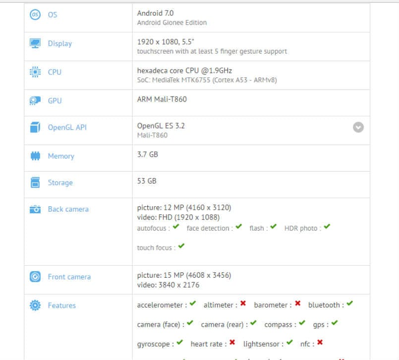 gionee-s10-plus-gfxbench-listing