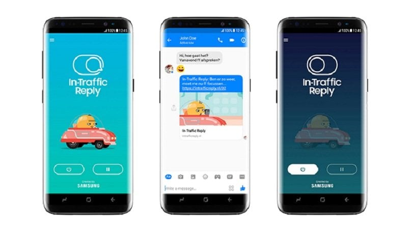 Samsung unveils In-Traffic Reply, an app that will keep you from texting while driving