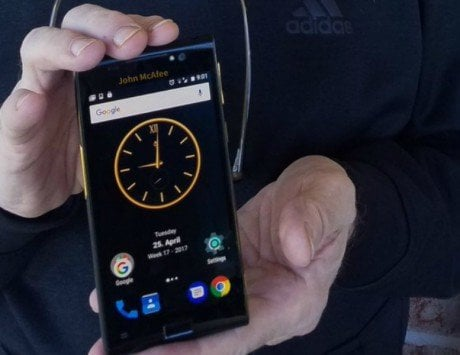 John McAfee unveils what he calls the 'world's first truly private smartphone'