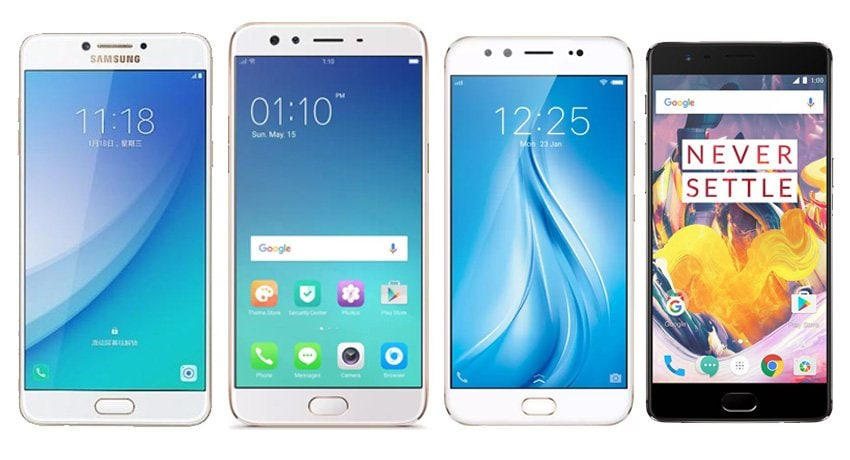 Samsung Galaxy C7 Pro vs OPPO F3 Plus vs OnePlus 3T vs Vivo V5 Plus: Price, specification and features compared