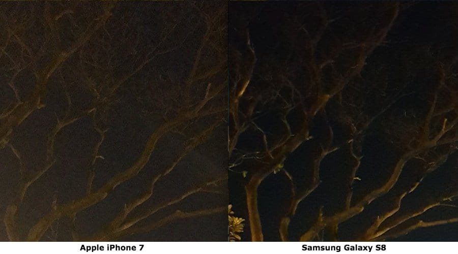 galaxy s8 vs iphone 7 smudging two