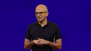 Microsoft CEO Nadella interacts with Hyderabad employees on India tour