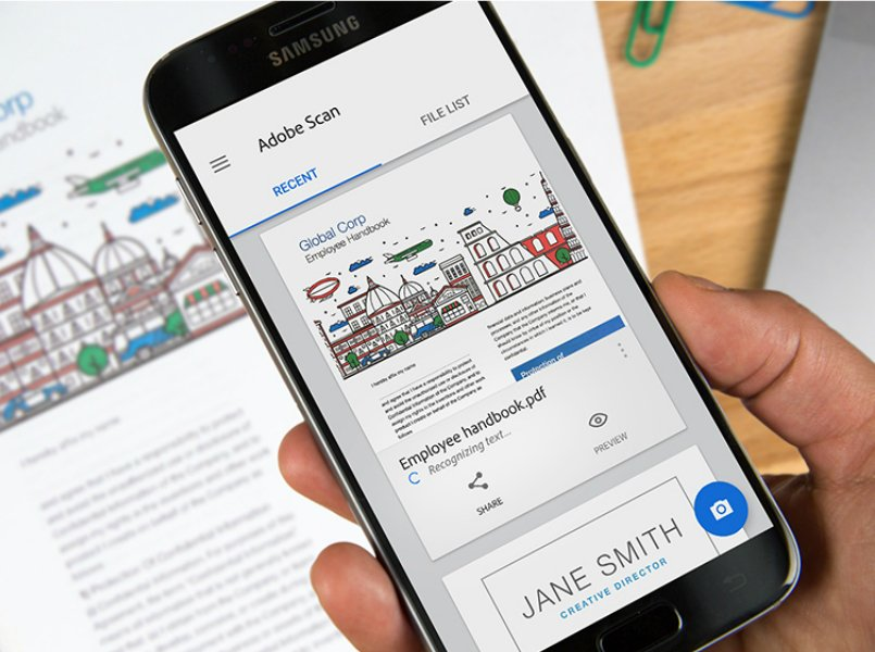 Adobe Scan turns physical documents into editable PDF files