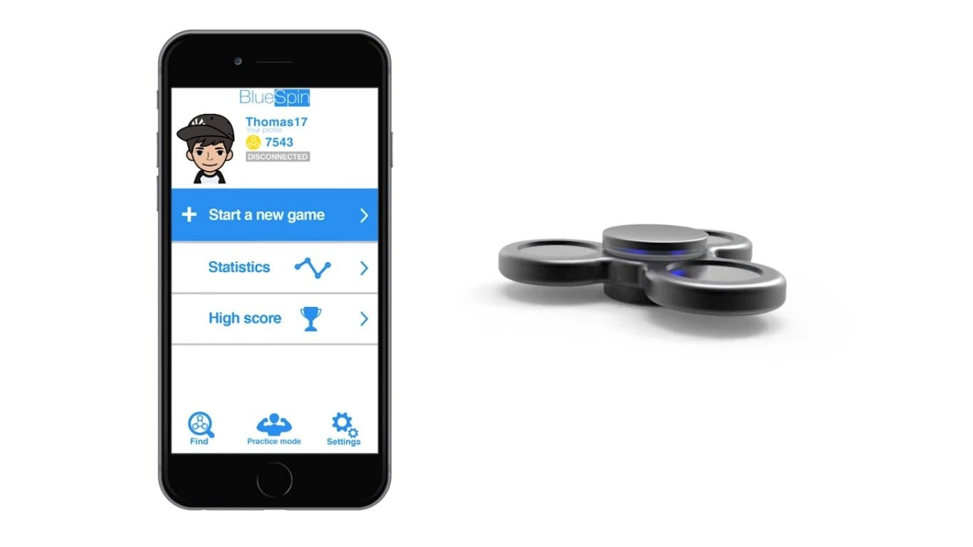 Here's a Bluetooth fidget spinner that you can connect with your phone