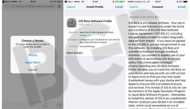 how to install ios11 dev profile