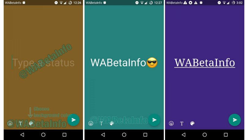 whatsapp beta background and fonts