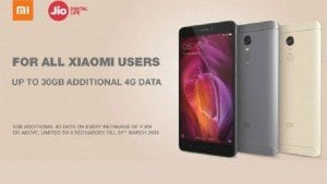 Xiaomi partners Reliance Jio to offer up to 30GB additional 4G data to Mi users